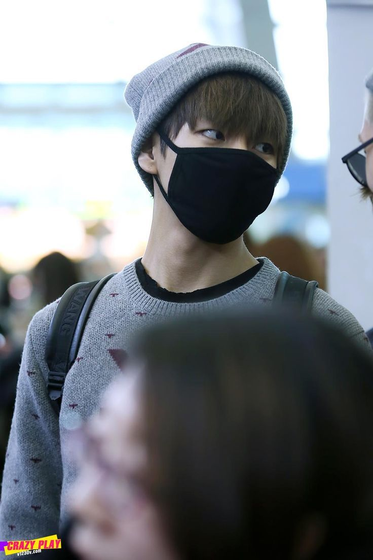 Image Result For V Bts Glasses Mask Kim Taehyung Black Fashion Mask