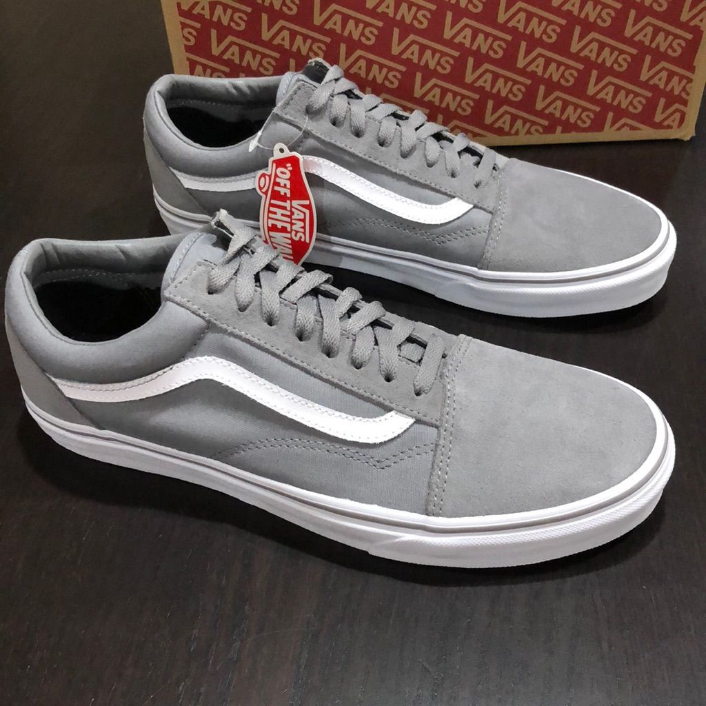 Vans Shoes | Vans Old Skool Suede Canvas Frost Gray | Color