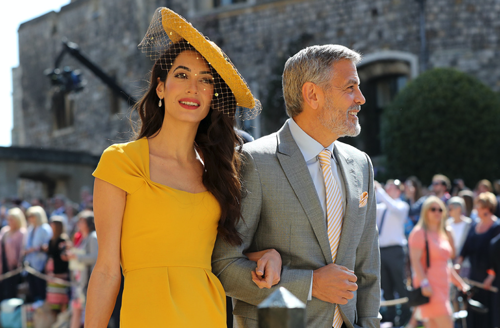 Amal Clooney Looks Like The Actual Sun At The Royal Wedding Royal Wedding Outfits Royal Wedding Nice Dresses