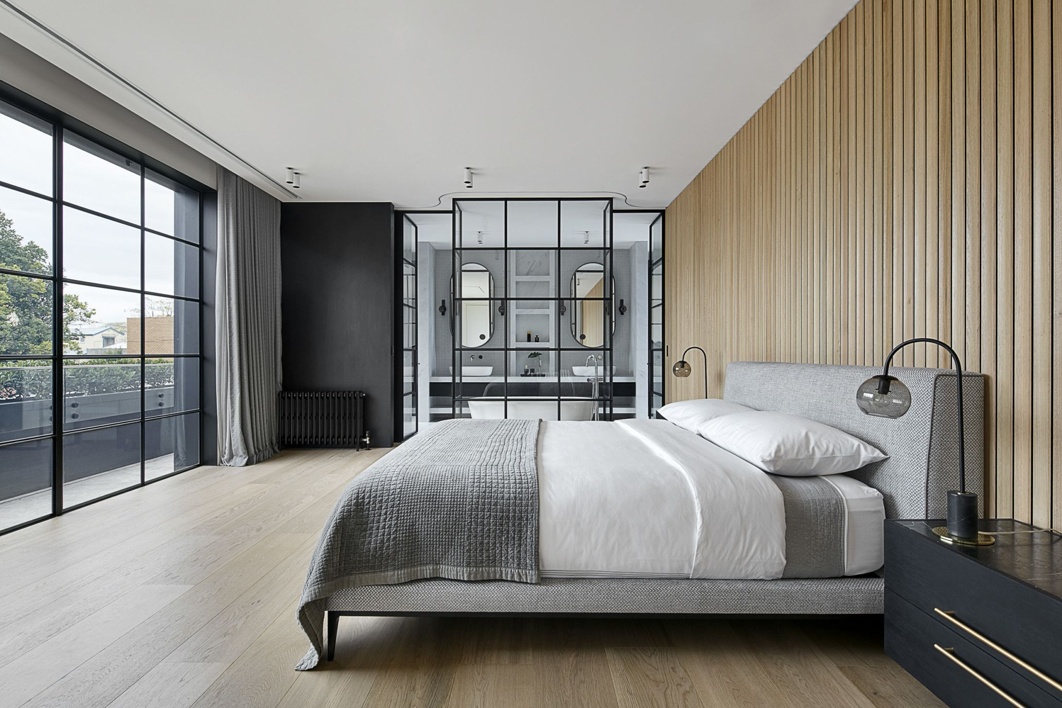 Princes Hill White Smoked Timber Flooring Project Woodcut Bedroom Interior Home Interior Design