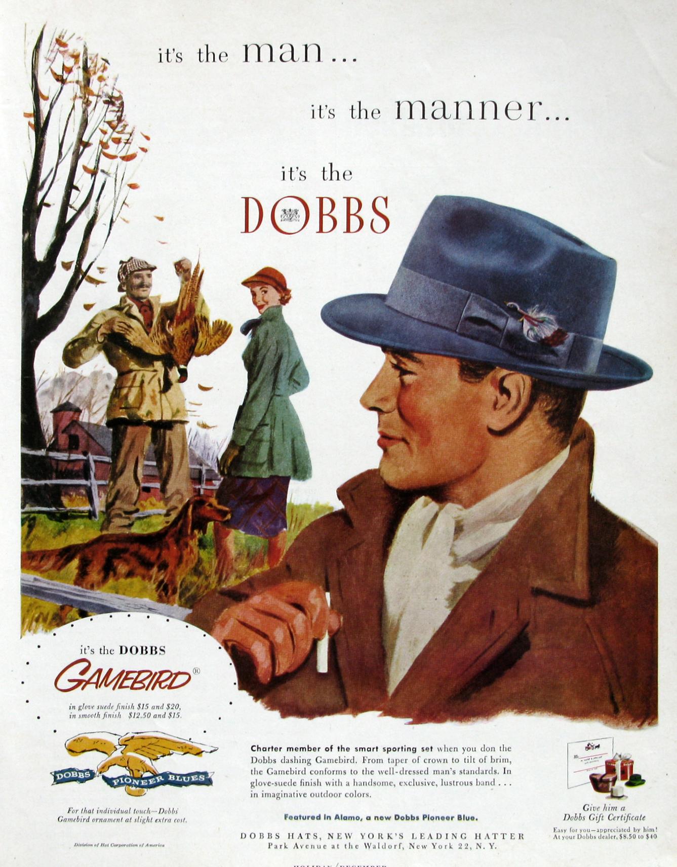 Dobbs Hat Vintage