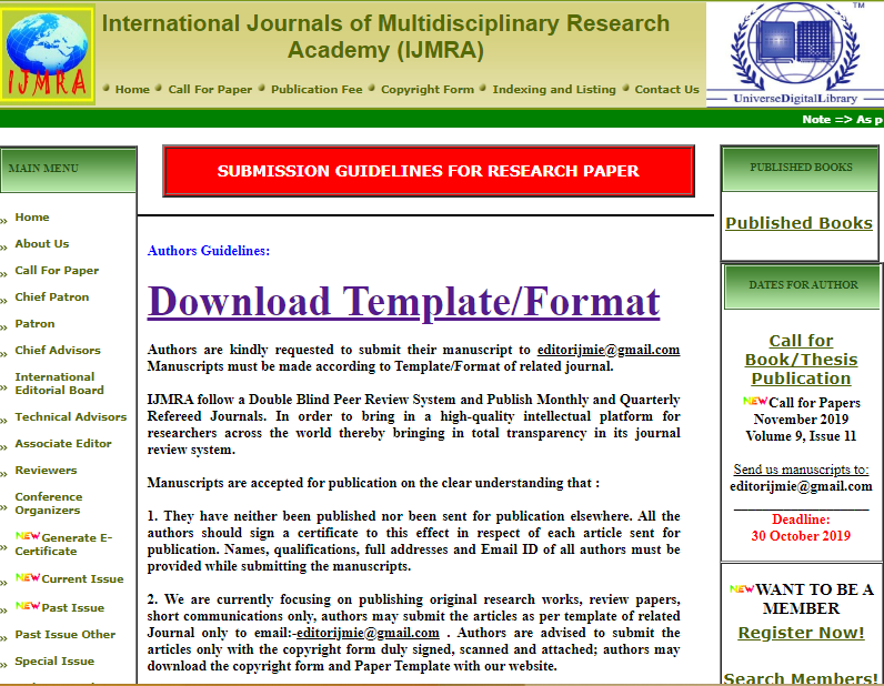 Submission Guidelines For Research Paper Research Paper Book Publishing Guidelines