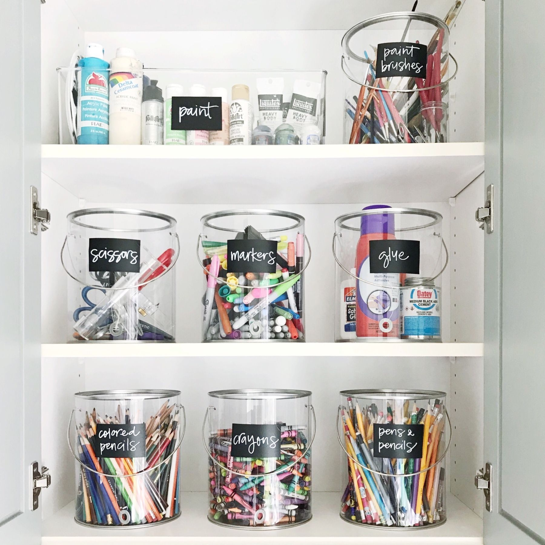Art Supplies Storage Craft Room Supply Organization
