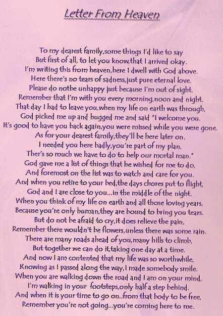 Letter To My Daughter In Heaven : letter, daughter, heaven, Letter, Heaven, Heaven,, Grief, Poems,, Quotes