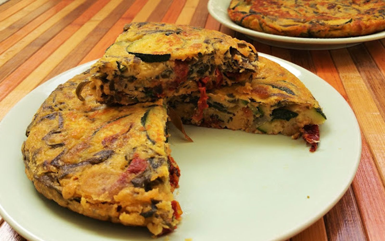 Spanish Omelet with Sun-Dried Tomatoes and Wakame [Vegan ...