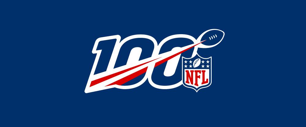 New Logo For Nfl 100th Anniversary Anniversary Logo Nfl Nfl Logo