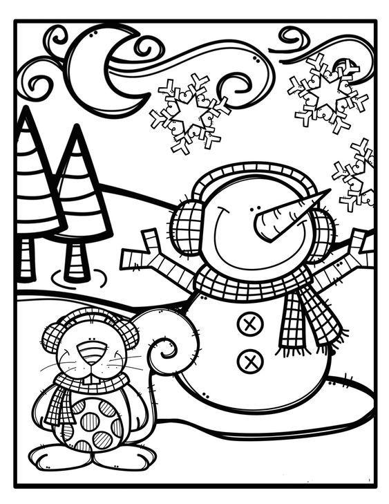 Kış Mevsimi Boyama Sayfaları Okul öncesi Boyama Sayfaları