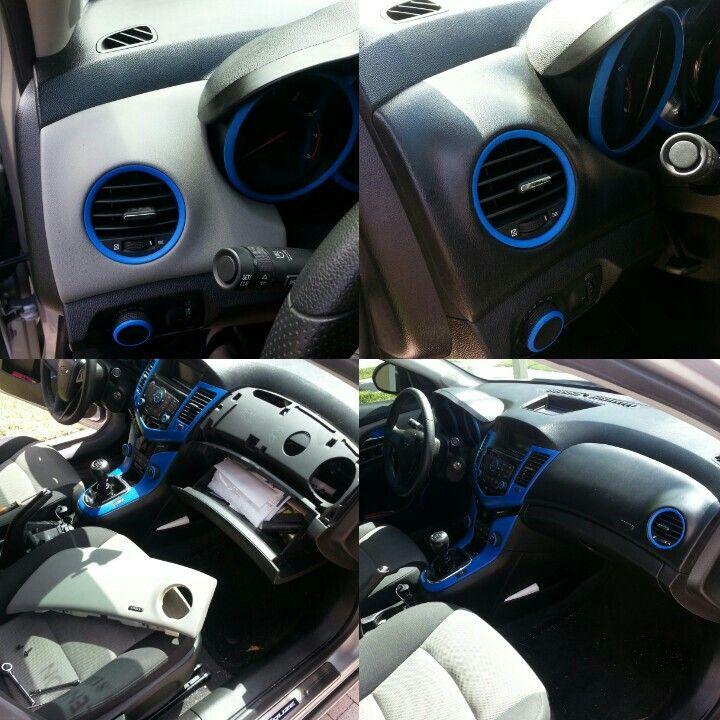 My interior pieces plasti dipped | My Cruze | Truck interior