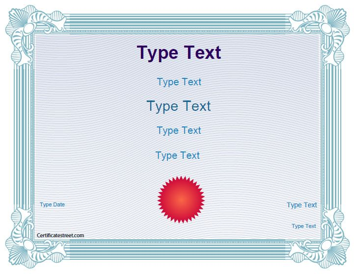 Blank Certificates  School Award Certificate Template