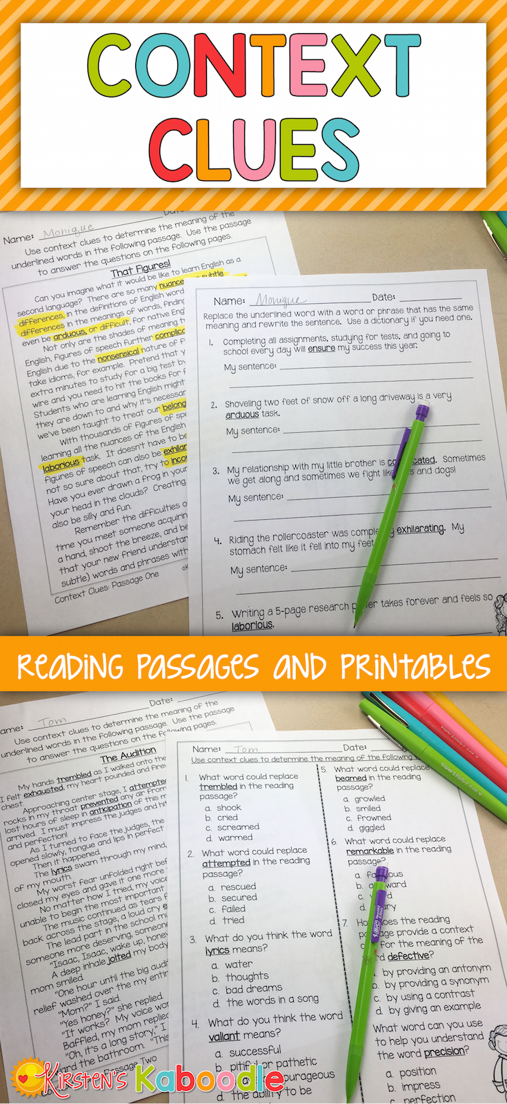 Are You Looking For No Prep Context Clues Reading Passages This Product Offers Print And Go Com Context Clues Context Clues Passages Context Clues Worksheets [ 1599 x 735 Pixel ]