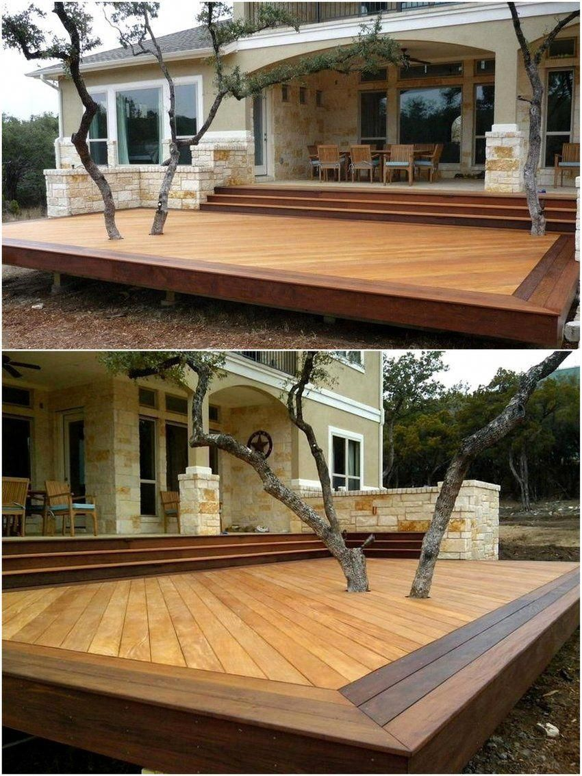 Raised Wooden Decks Are Also Made Their Position In Modern Decking Ideas As They Are Attractive In Look And Function Modern Deck Building A Deck Wooden Decks