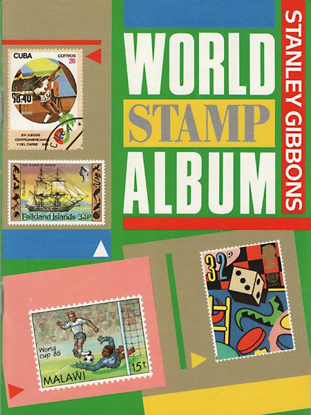 world postage stamps | beginner world stamp album with 64