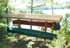 how to build a boat rack