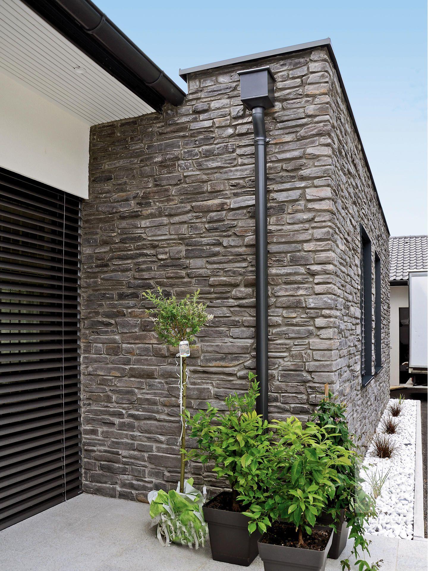 Hausfassade Steinoptik Modell P19 Toce Gesplittert Fassade Home