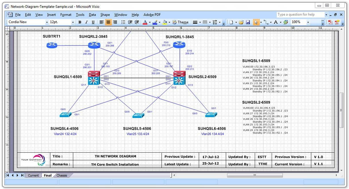 37 Simple Network Diagram Excel For You With Images Visio
