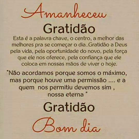 Bom Dia Gratidao Felicidade Cia Gratitude Words E Quotes