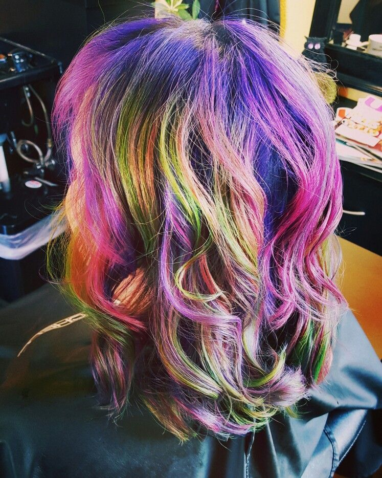 Fun color hair