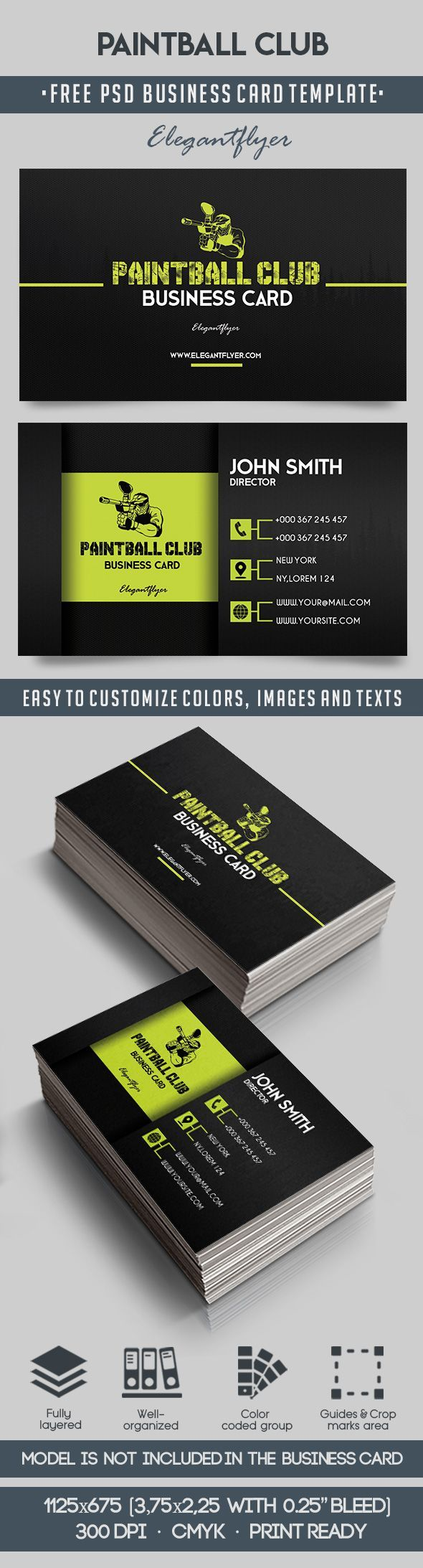 Httpselegantflyerfree business cards templatepaintball paintball club free business card templates psd accmission Choice Image
