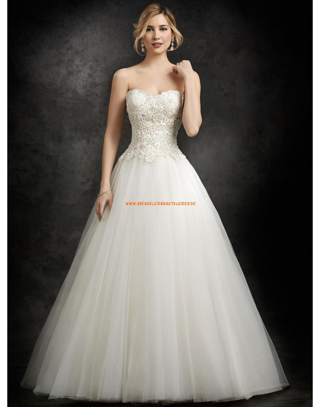 Ella Rosa A-linie Schönste Elegante Brautkleider aus Softnetz mit ...