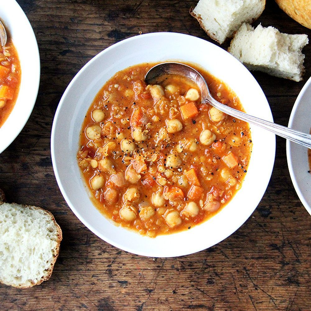 A Pantry-Clearing, Belly-Warming Lentil and Chickpea Soup on Food52