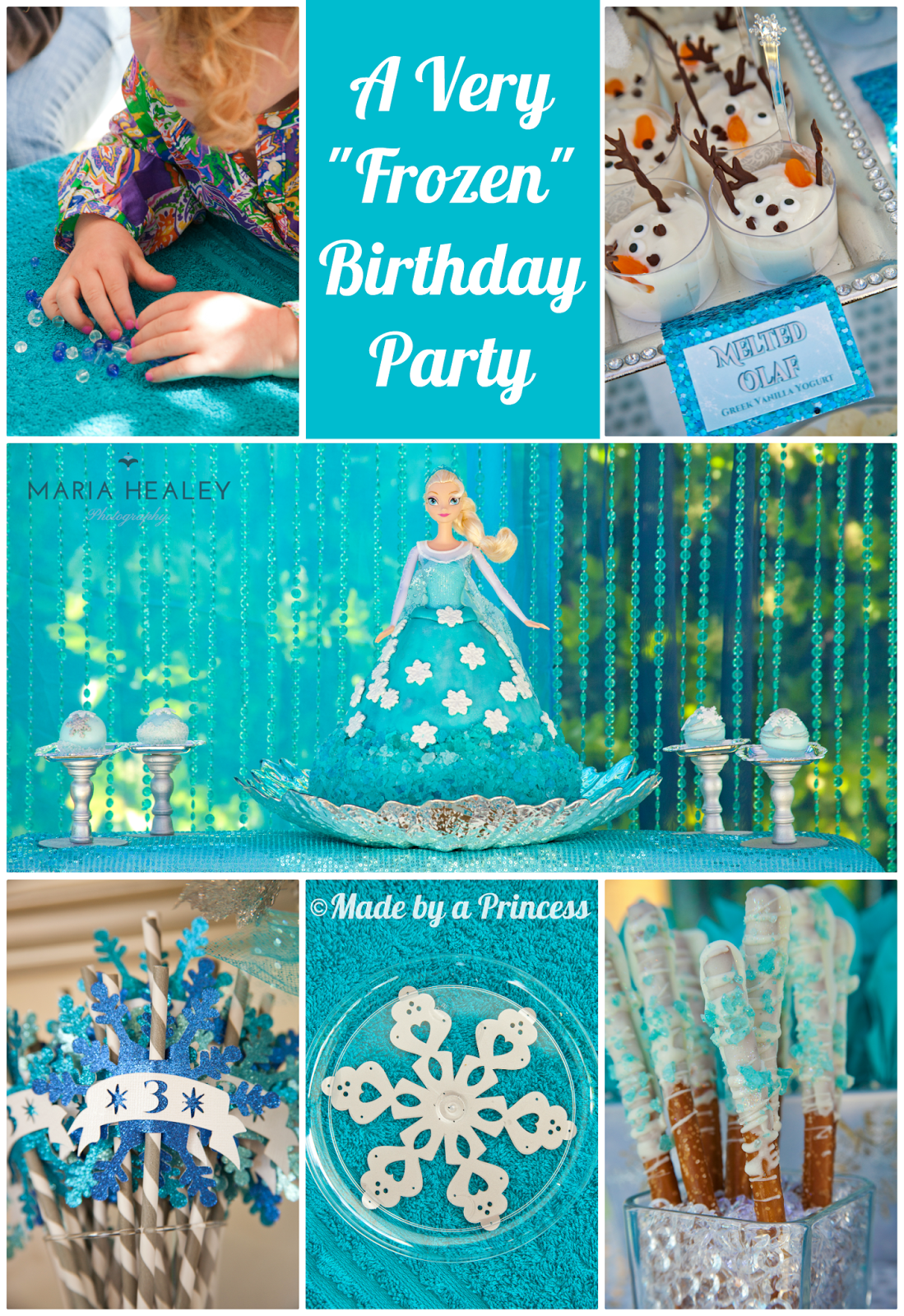 "{Real Party} Frozen Birthday Party Made by a Princess Parties in Style ""Frozen"" Inspired"
