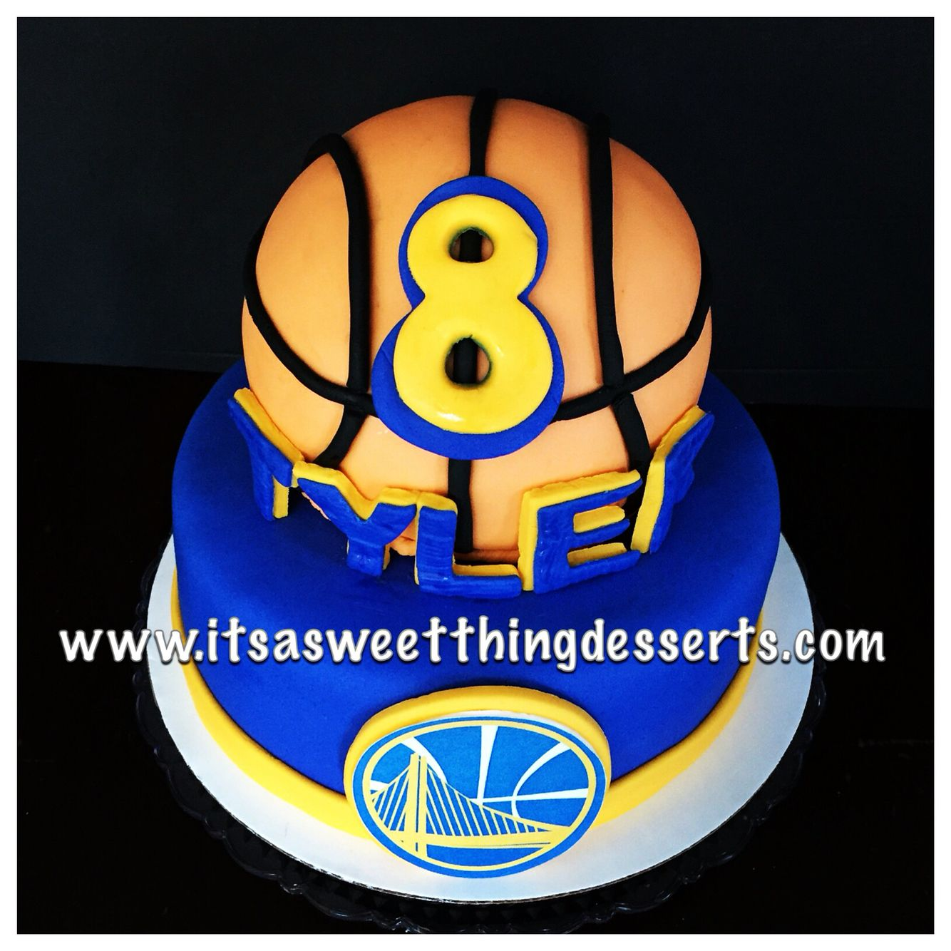 Golden State Warriors Themed Cake Cake Design Pinterest Golden