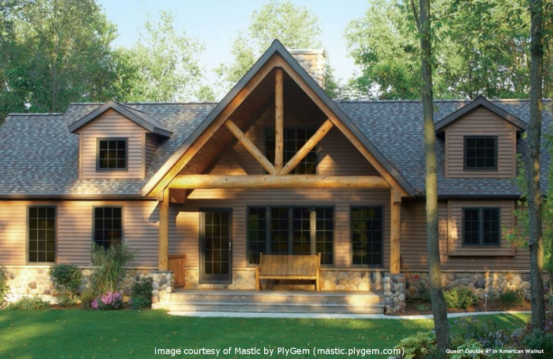 Mastic Quest Vinyl Lap Siding American Walnut Color Home