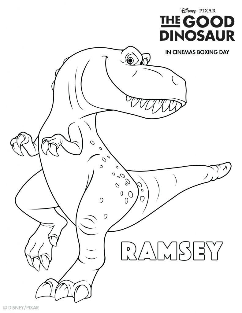 Good Dinosaur Coloring Pages Collection