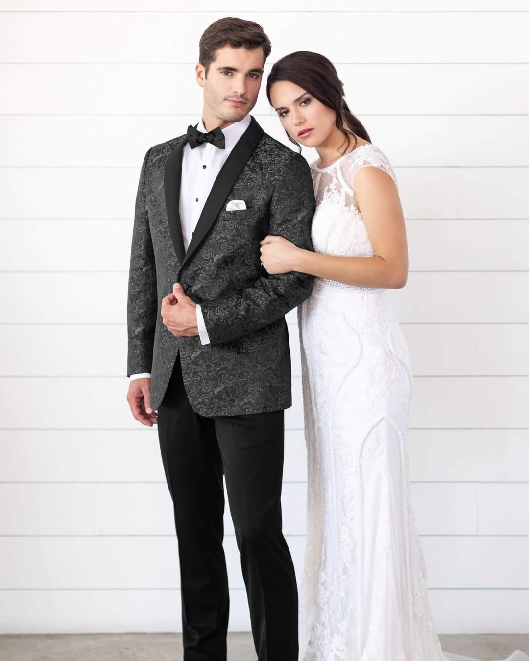 Expect to be noticed in the Granite Paisley Aries Tuxedo