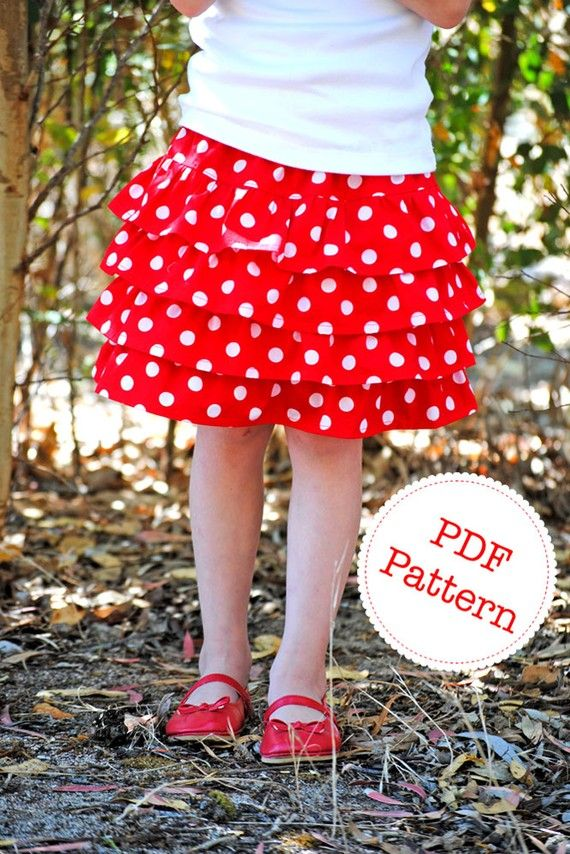 Ruffle Skirt Pattern. PDF Sewing Pattern and Tutorial for Lexi ...