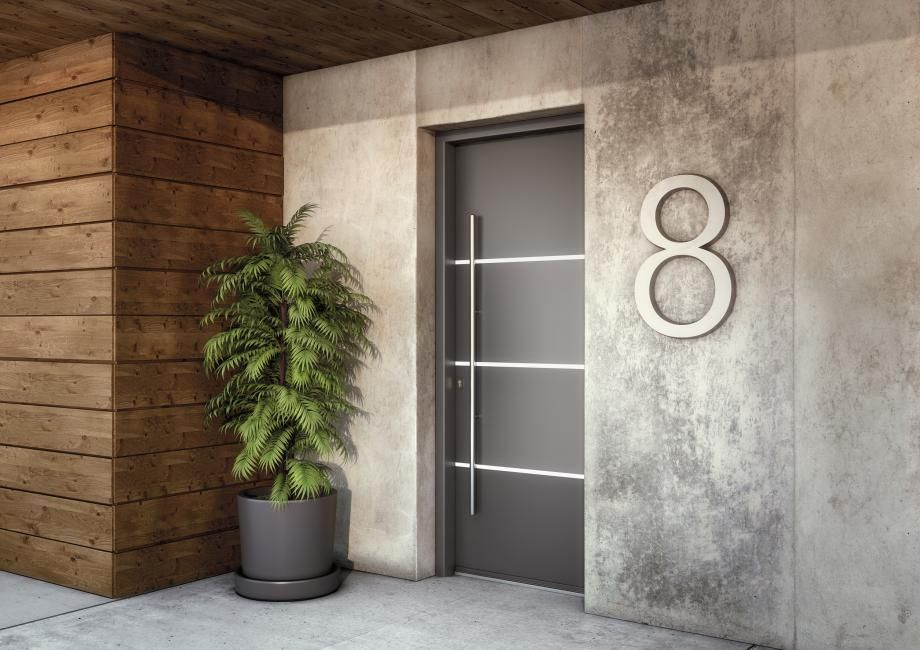 Portes Dentrée Aluminium SILVER Batiman Experts En Menuiseries - Porte d entrée contemporaine