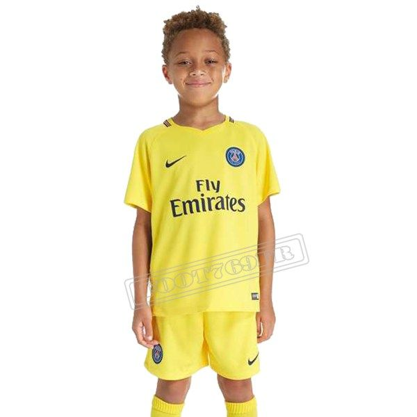 nouvelle flocage personnalise maillot de exterieur psg paris enfant jaune 2017 2018 online. Black Bedroom Furniture Sets. Home Design Ideas