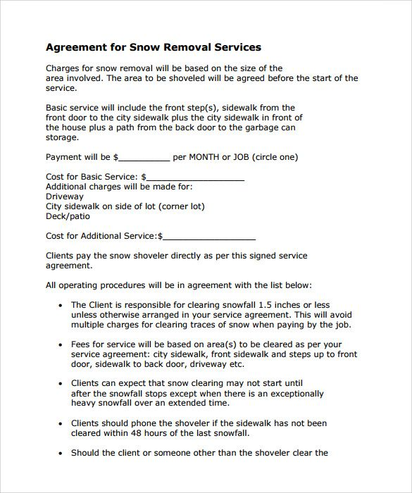 Sample Templates Snow Plowing Contract Template 7 Download Free Documents In Pdf 6ae86fdd Resumesample R Snow Removal Contract Contract Template Snow Removal