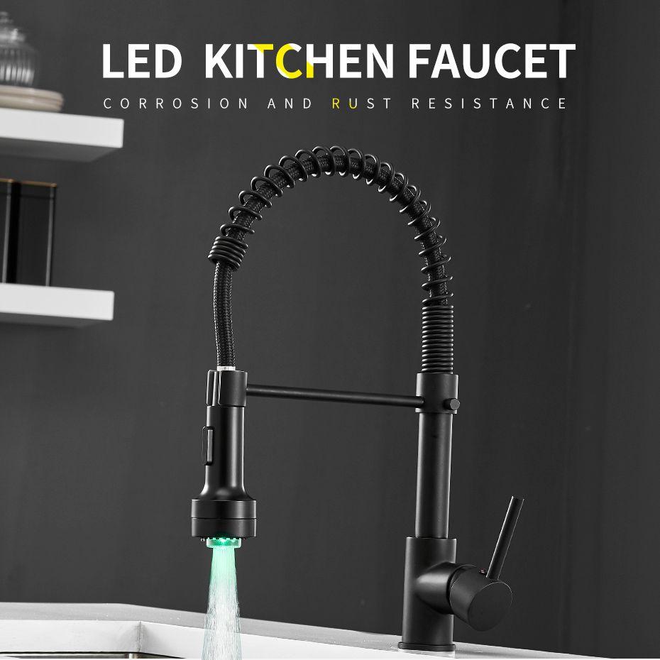 Description Commercial Style Spring Kitchen Faucet Single Handle