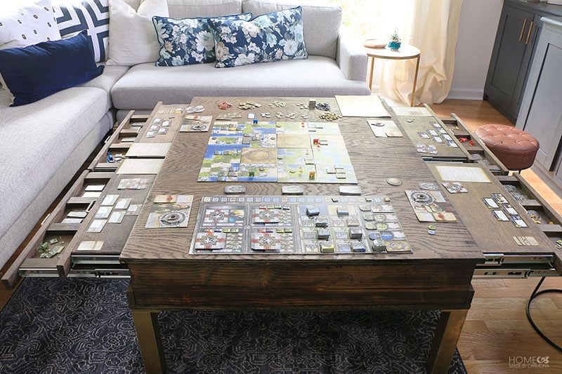 How To Create The Ideal Tabletop Gaming Room Home Made By Carmona Coffee Table Diy Coffee Table Puzzle Table