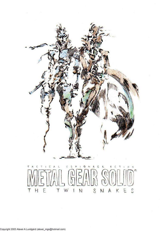 Yoji Shinkawa S The Twin Snakes Pencil Sketch Metal Gear Solid