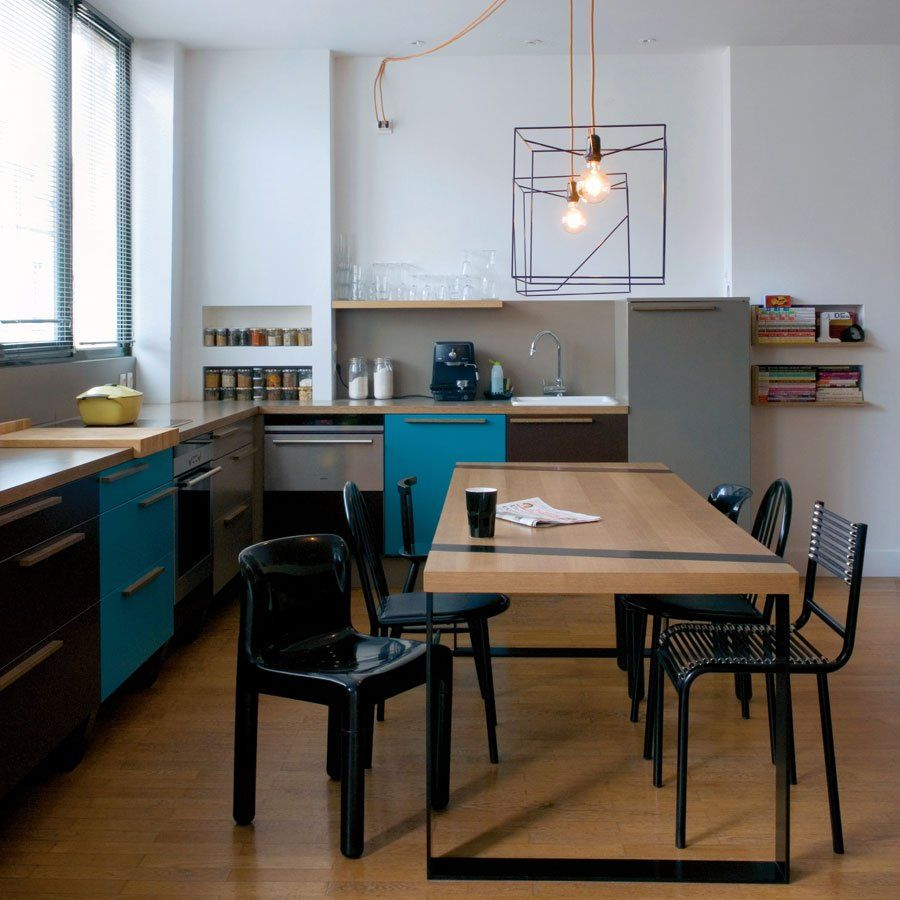 Grand Eléments De Cuisine : La Cuisine Ouverte En Forme De L   Marie Claire Maison