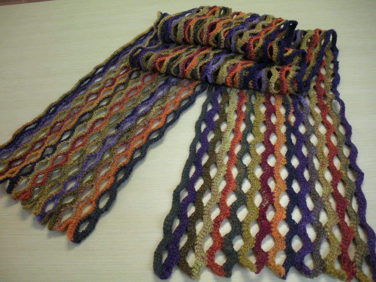 wavelength crochet scarf Pattern The Wavelength by Lime