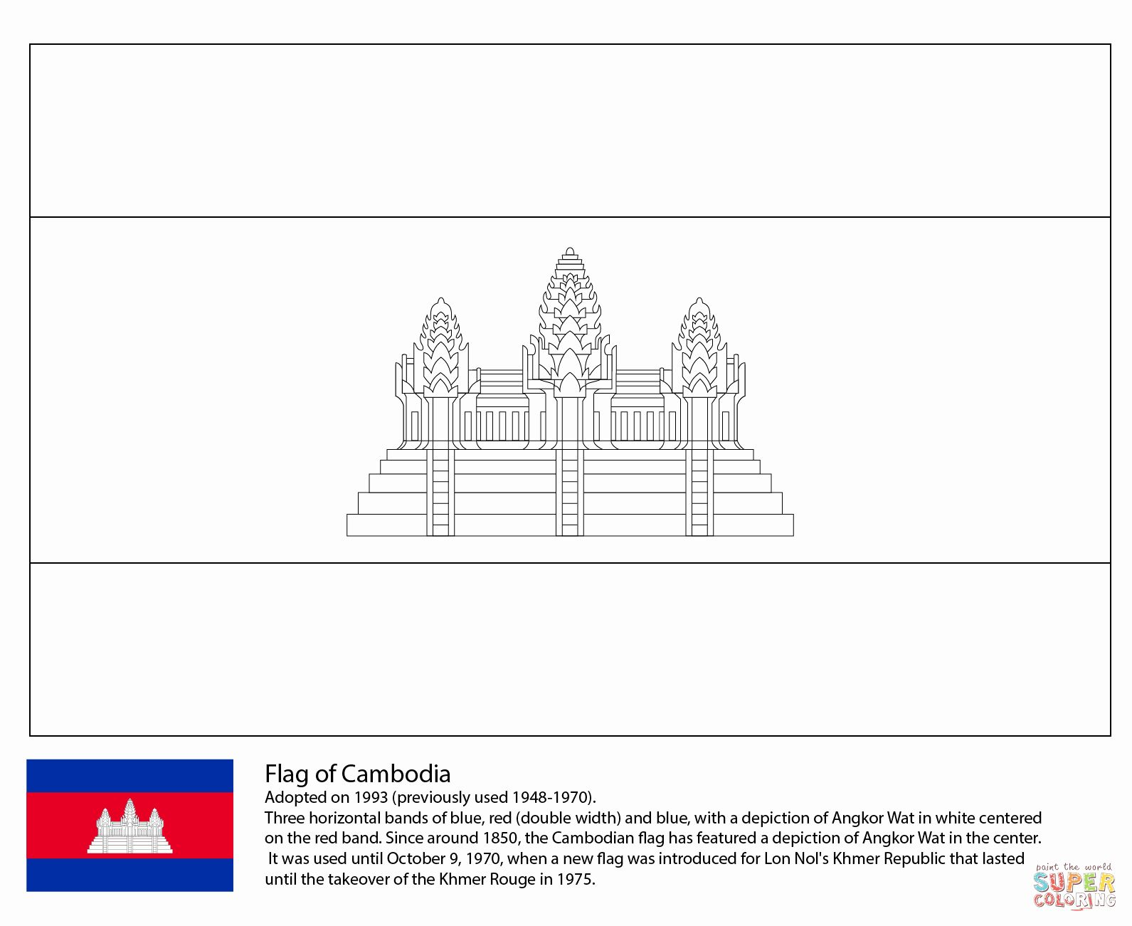 Vietnam Flag Coloring Page New Coloriage Drapeau Du Cambodge In