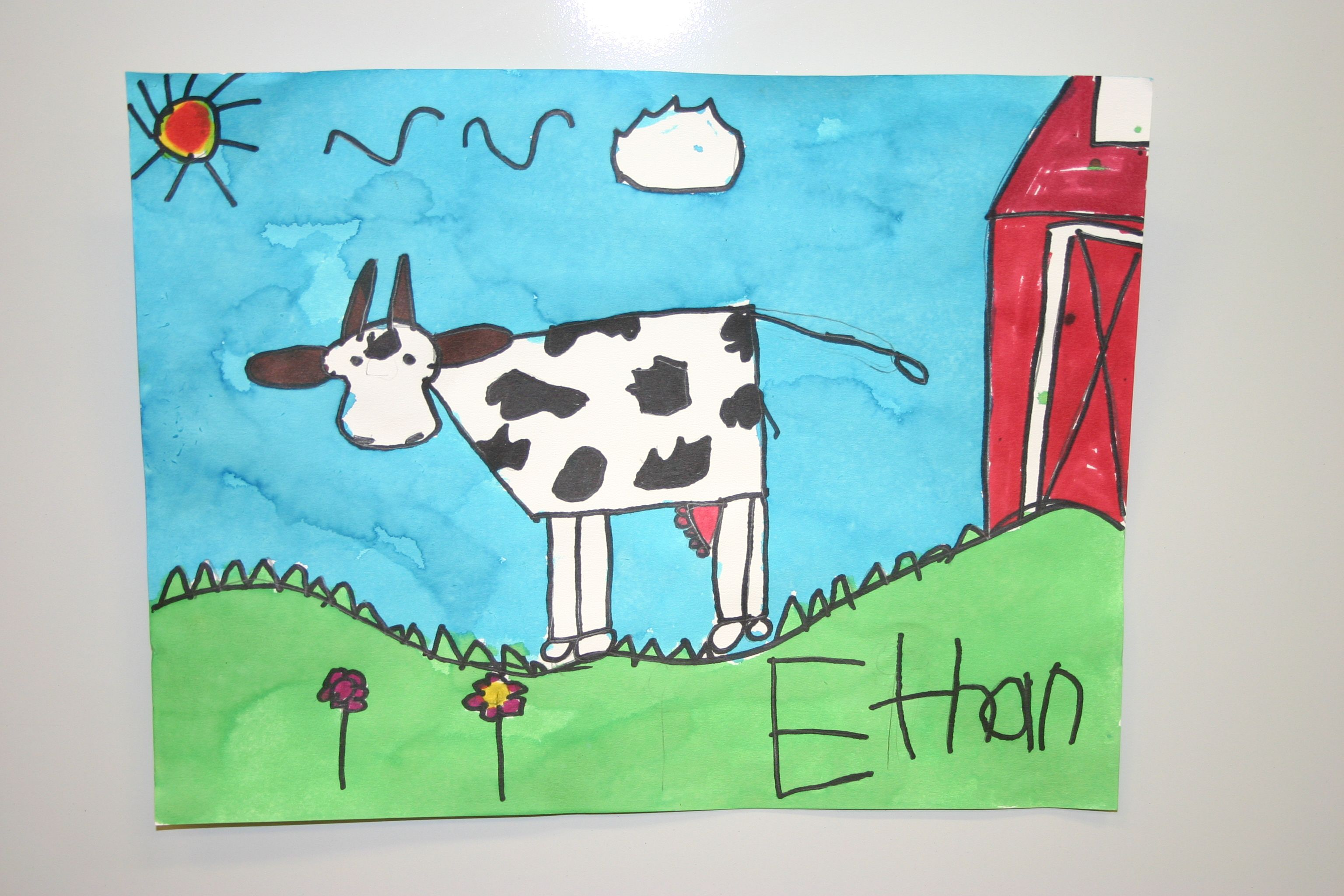 pre-1st cow | 1st grade art projects | Pinterest | Cow ...