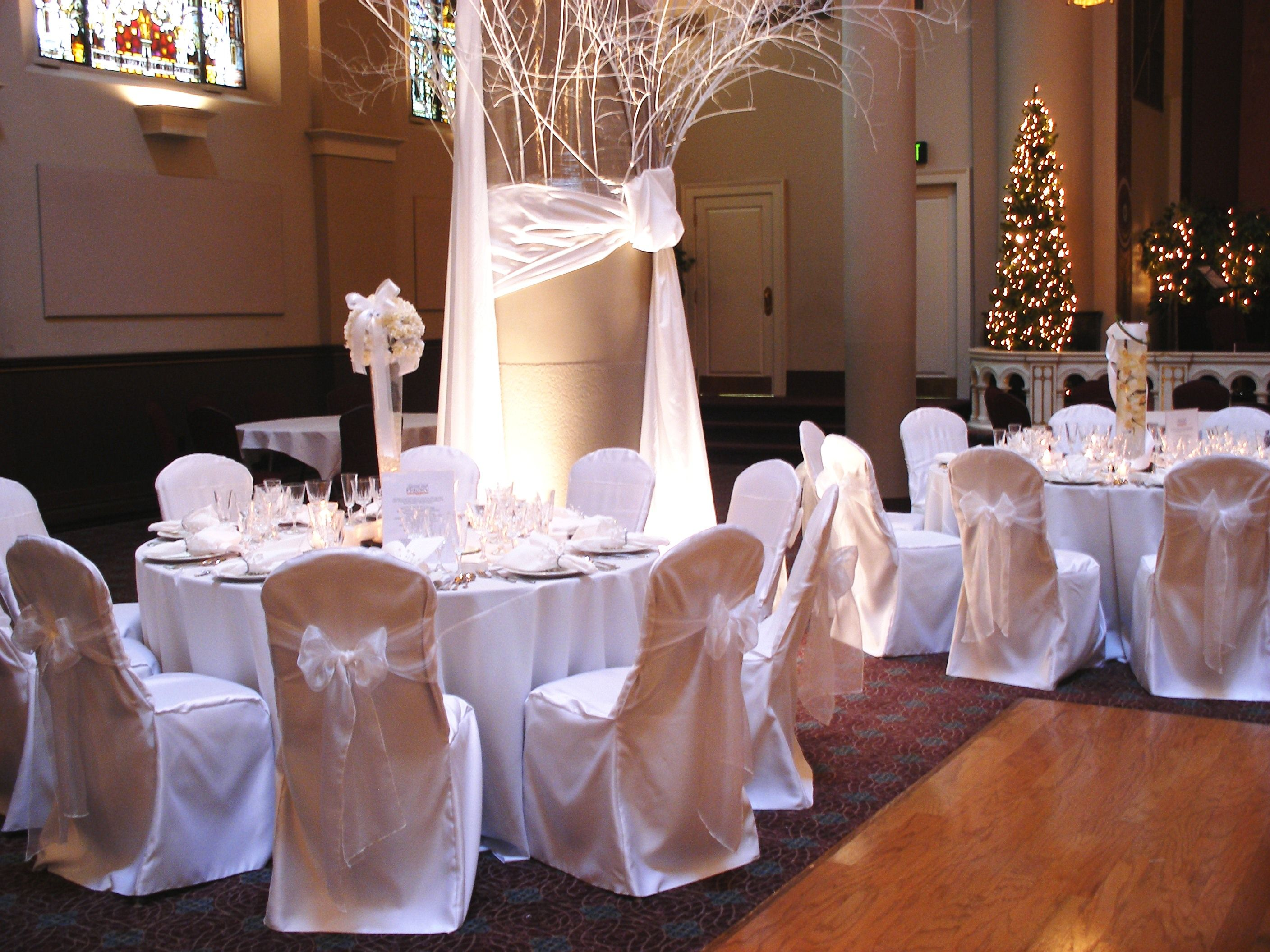 Simple Winter Theme Chair Covers Wedding Reception Wedding Reception Chairs Chair Covers Wedding