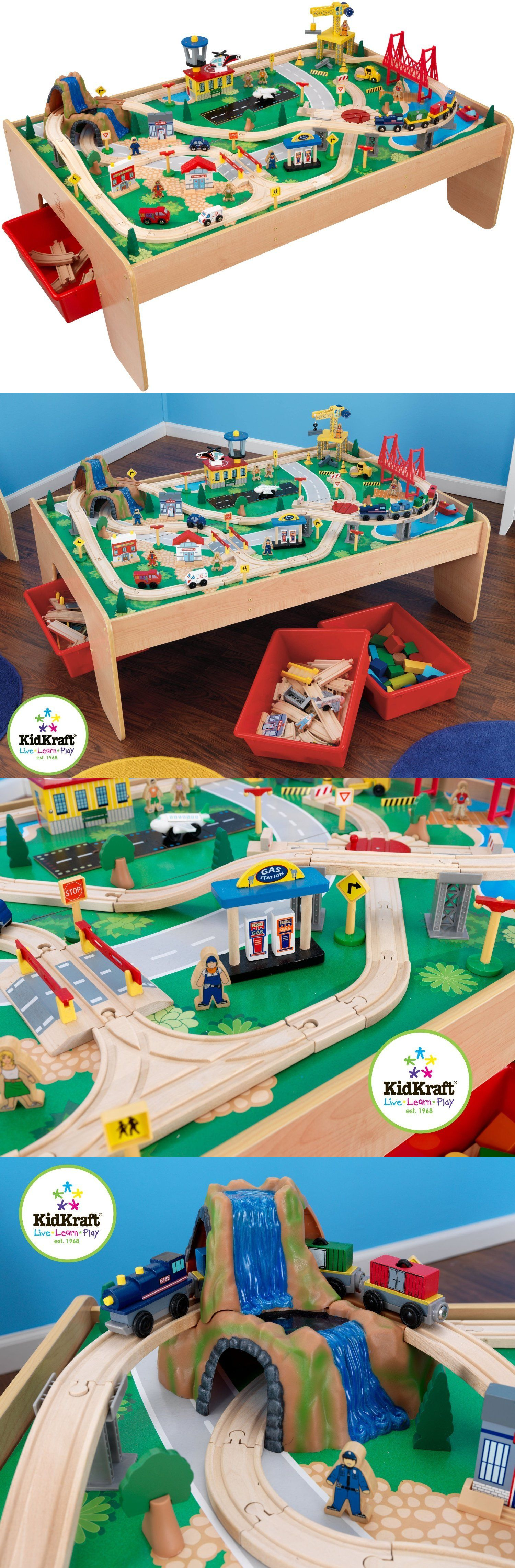 Wooden And Handcrafted Toys 1197: Waterfall Mountain Train Set And Table  Kidkraft Pretend Play Preschool