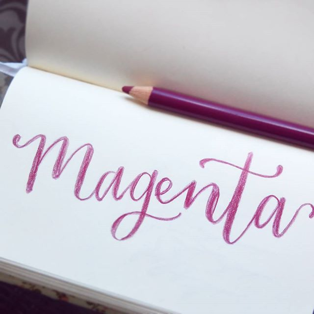 Magenta.  --  #Lettering #handlettering #handletteringpractice #typegang #letteringcollective