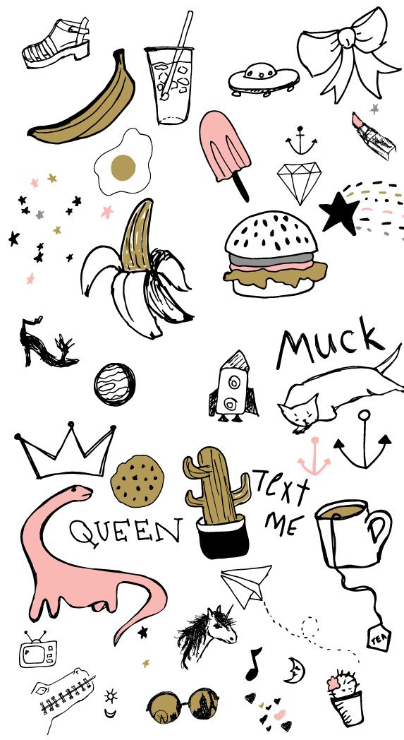 Free doodles beautymarks wallpapers for your mobile - Doodle desktop wallpaper ...
