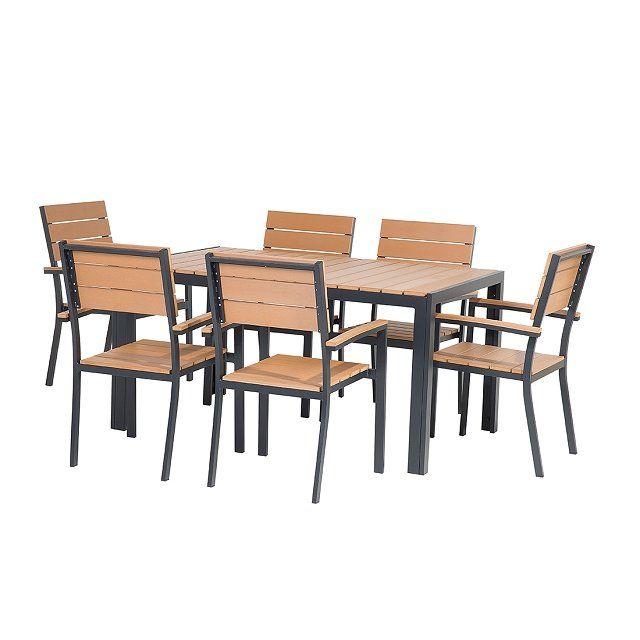 Gartenmöbel Set Polywood braun 150 x 90 cm 6-Sitzer COMO