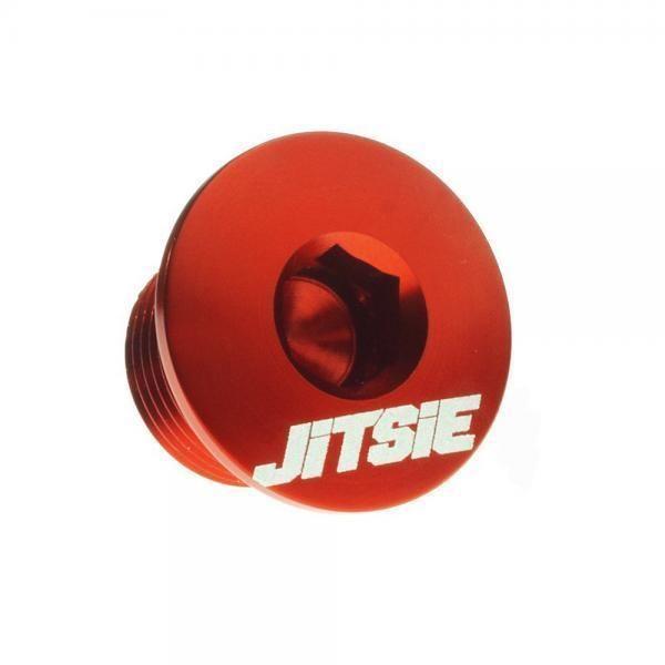 Tappo olio motore Jitsie per Beta EVO 2T in alluminio colore rosso