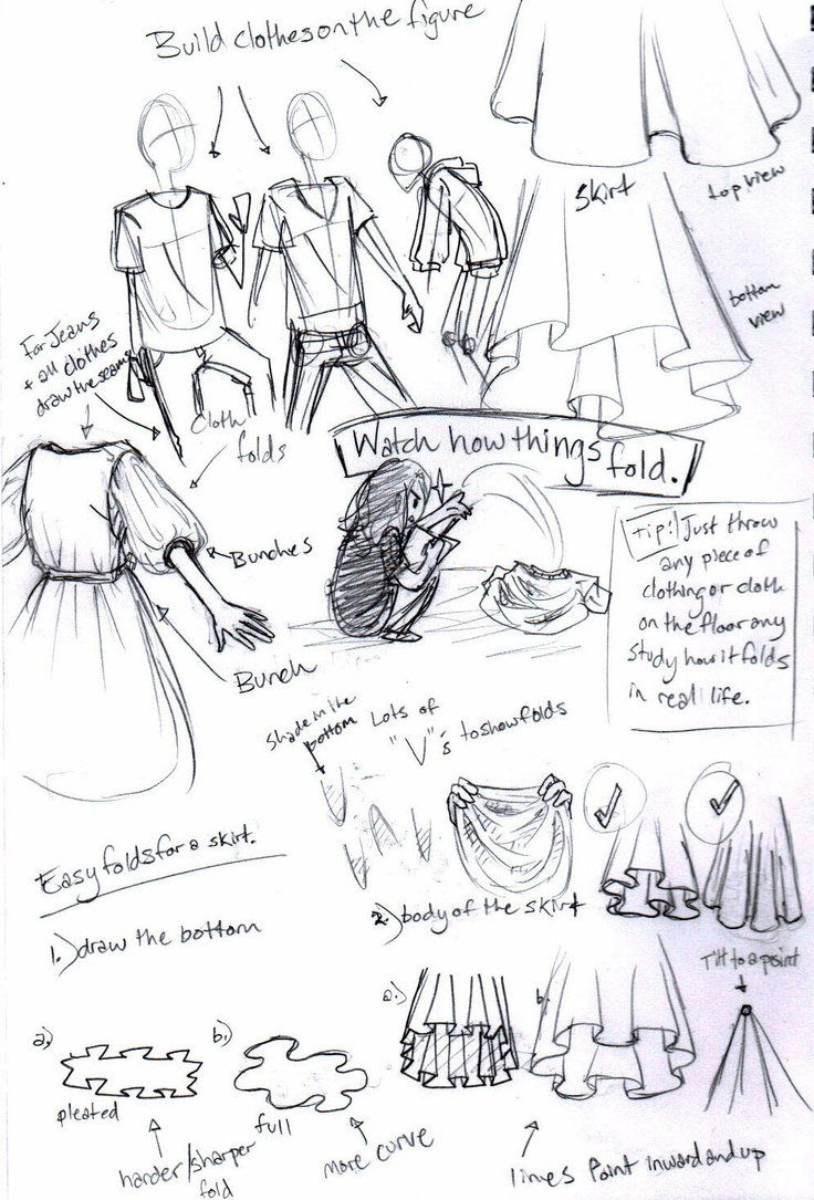 How To Draw Clothes  Crappy Howto For How I Draw Clothes By Missbillyf