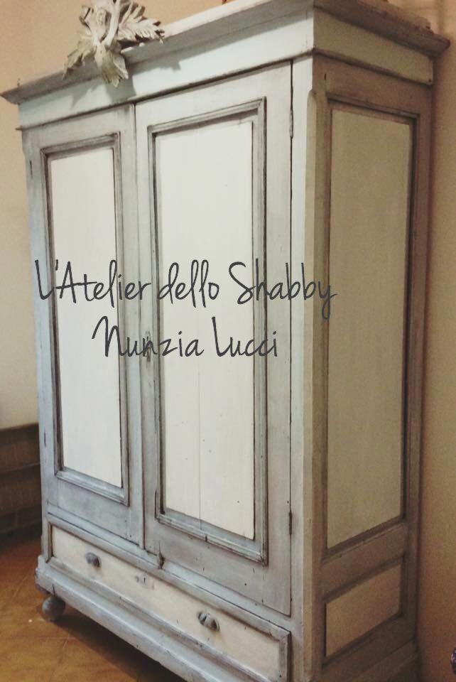 Recupero di un vecchio armadio in stile shabby chic! # ...