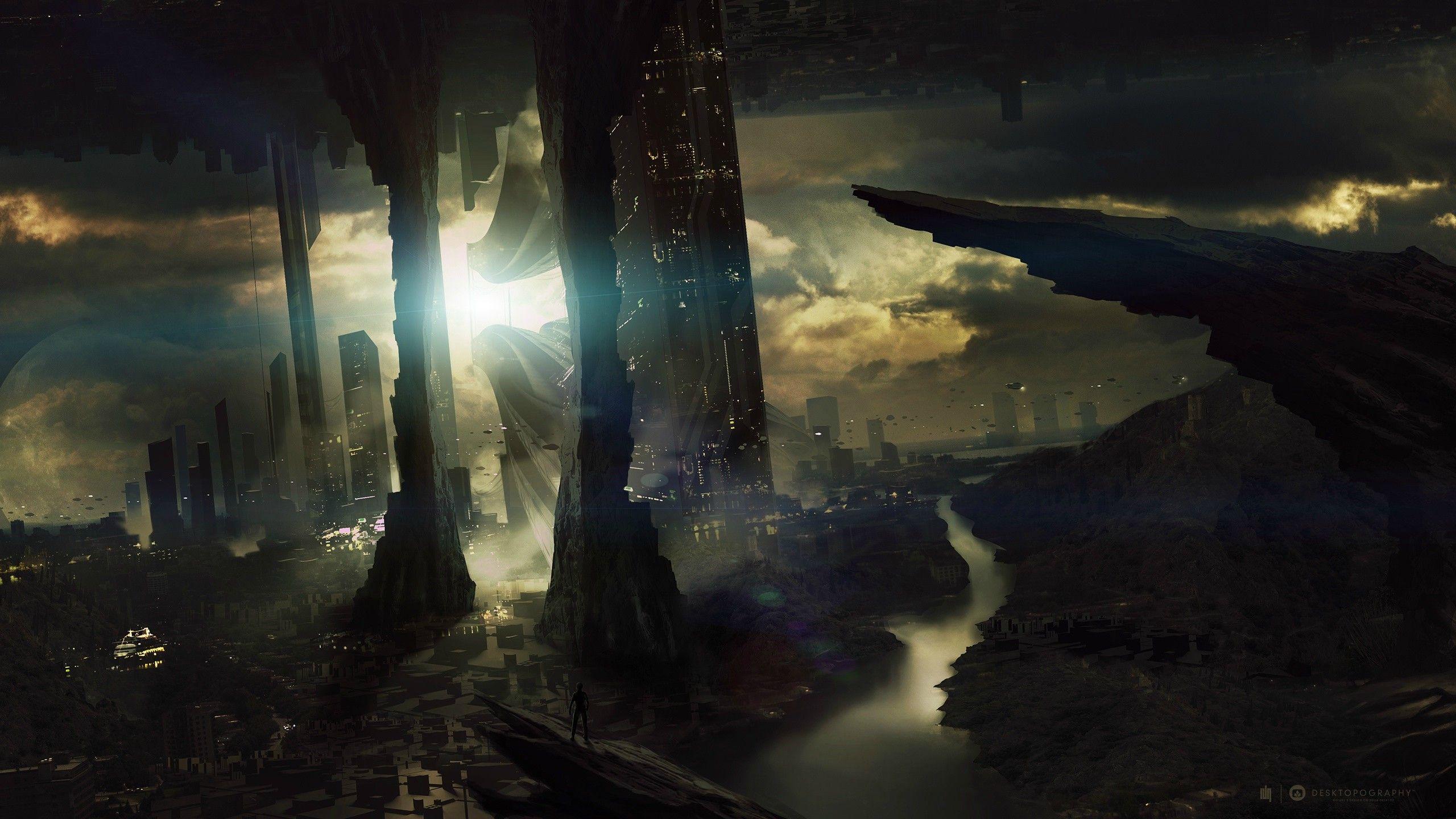 Sci Fi Background Collection Sci Fi Wallpaper Landscape Wallpaper Futuristic City