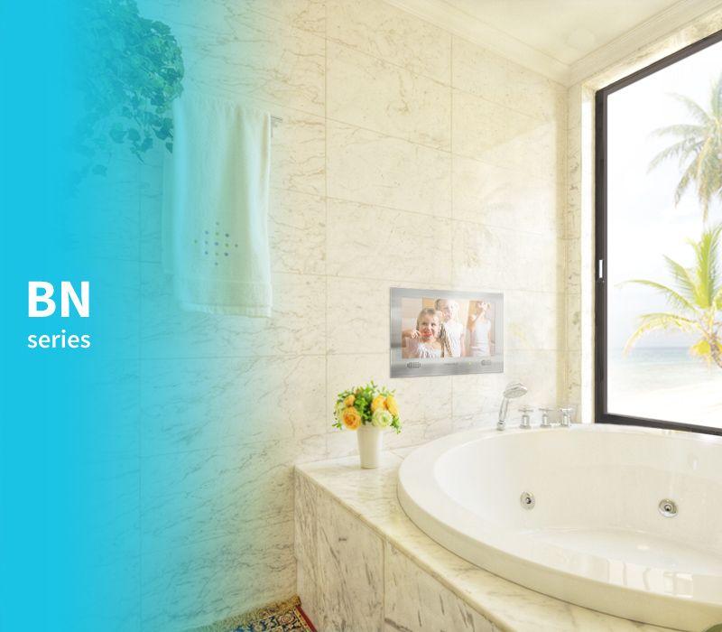 Evervue Bn Bathroom Tv Stainless Steel Waterproof Bathroom Tv Recessed Installation Tv In Bathroom Bathroom Installation